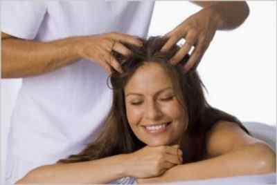 Общий массаж головы