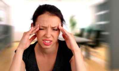 Головные боли из-за чрезмерного напряжения